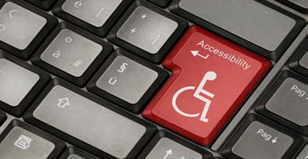 Wheel chair image on keyboard